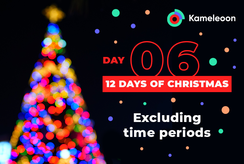 Kameleoon: Excluding time periods