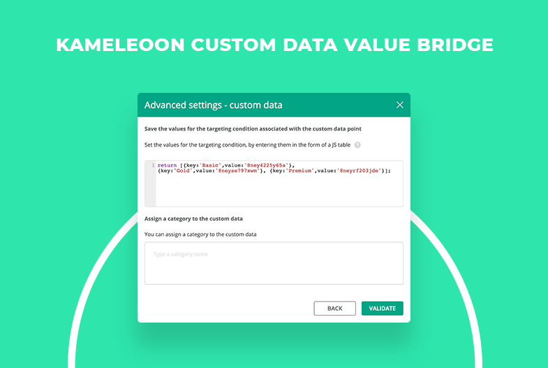 Custom Data Value Bridge