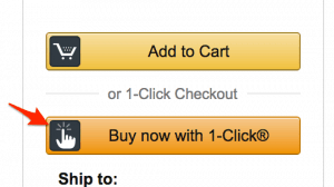 Screenshot of Amazon 1-click purchase button to illustrate how important it is to remove friction in your conversion funnel