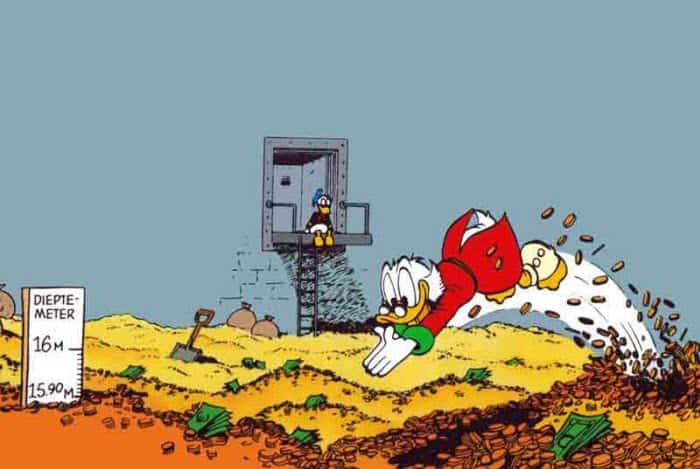 scrooge mc duck swimming in money because he made informed decisions thanks to ab testing
